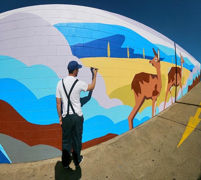 Orange Mural 682x612
